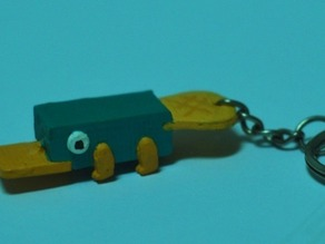 Perry the Platypus the inaction figure Keychain