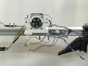 3DRAG peristaltic pump extruder