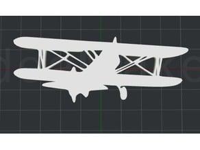 Biplane 2D Wall Art