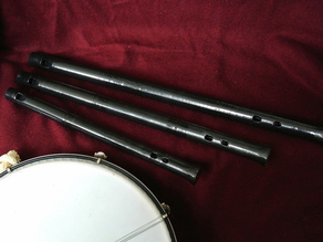 Tabor pipes in G, Bb, C, and D