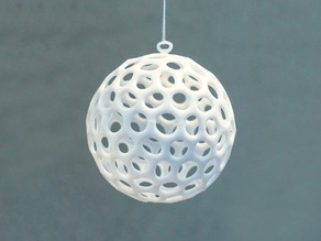 Voronoi Christmas bauble