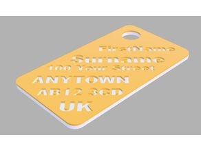 2 Colour Luggage tag