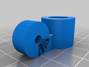 Crosshair laser holder for laser cutter