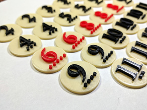 Catan Number Tokens - 6 Player Set