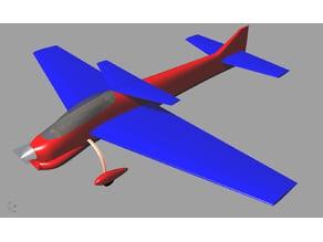 RC F3A model airplane