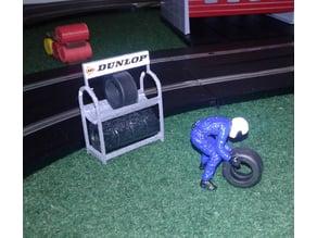 Tyre rack Scalextric 1/32