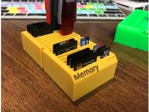 SD BattBlox (SD, microSD and Thumbdrive memory storage)
