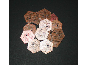 Dungeons & Dragons Drow Elf Coins (Gold, Copper, Silver and Platinum)