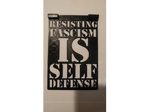 Resisting Fascism is Self Defense Stencil
