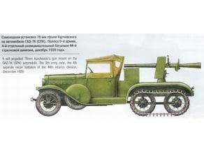 Gaz truck recoiless gun