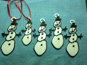Snowman Ornament - Hand Drawn Teacher Gift
