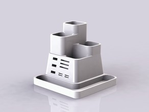 Desk Tidy- with USB and SD holder