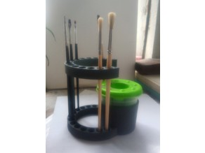 Paint Brush Holder with Can