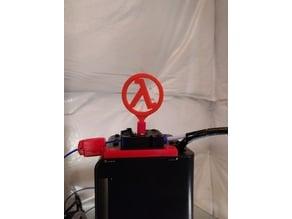 Half-life lambda topper-spinner for MP select mini