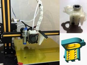 E3D v6 hotend mount for Creality CR7, CR8, CR10.  Modular Snap-In design