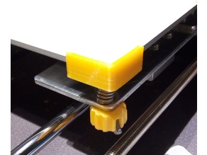 Anet A8 Hotbed Glass Corner Holder with M3 nut location