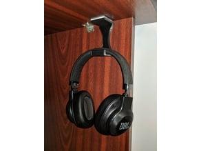 Under desk headphones stand