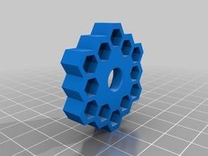 Tevo Tornado Bed Level Knob - Hive Themed (Hexagons)