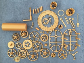 TheGoofy Mechanical Clock as four build plates