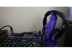 Moai Head Phone Stand Solid Throughout