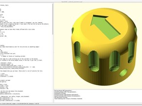 Parametric Potentiometer Knob with OpenSCAD