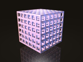 Cube with 6x6x6 holes