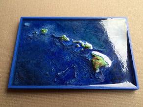 Hawaiian Islands with seafloor