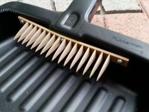 Dustpan broomstick wiper