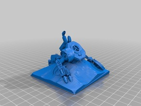 Warhammer 40k wreck Wrack Killabot Gelände Deckung Tabletop Scale 28 mm