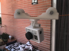 Very simple cablecam dolly for GoPro Hero3