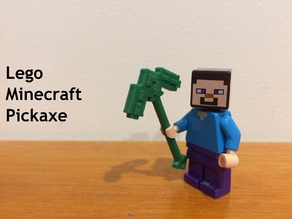Lego Compatible Minecraft Pickaxe