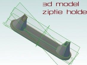 Simple ZipTie Landing Gear Holder for 12.5mm booms