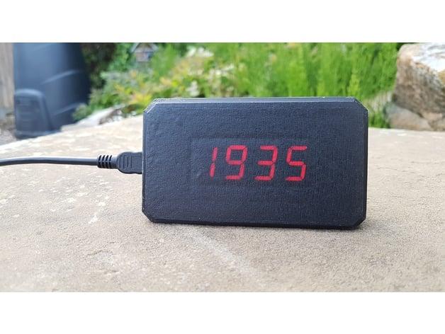 BLough Alarm Clock Desktop Case by ChunkySteveo - Thingiverse