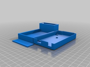Support for arduino mega with included protoboard and battery holder