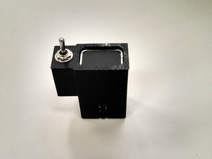 9V Battery holder with toggle switch mount