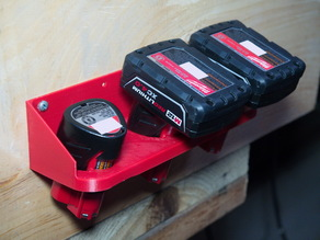 Milwaukee M12 battery holder and wall mount