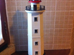 Hexagonal Base Lighthouse Model