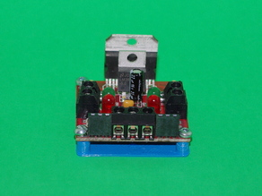 Solarbotics L298 Compact Motor Driver Drilling and Mounting Plates