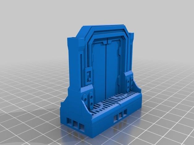 Scifi wide door for openLock by owenstreetpress - Thingiverse