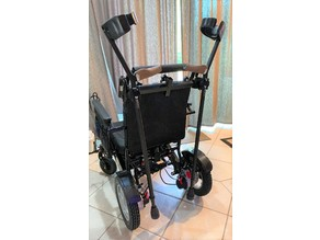 Wheelchair forearm crutch holder