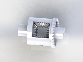1:25 scale RC Differential for 3mm axel shafts (Updated diff gears)