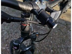 Multifunctional flashlight / torch holder for bicycle esp. Olight S1R Baton II; S1 Baton mini; Thrunite Ti3