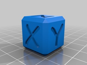 Pz xyz Calibration Cube