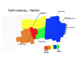 #NEPAL3DRELIEF The city map of Kathmandu