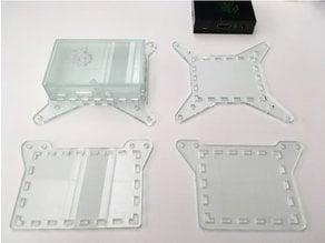 Raspberry Pi 3B case with optional VESA mounts