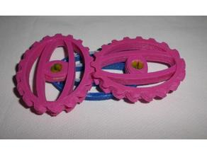 PLA compatible elliptical gear set
