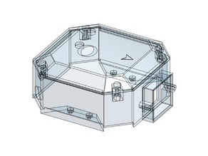 Top cover for F450 frame CAD remix