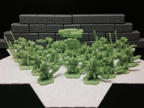 Slisk Raiding Party (18mm scale)