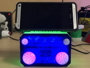 Boombox Cellphone Holder with LED RGB lights