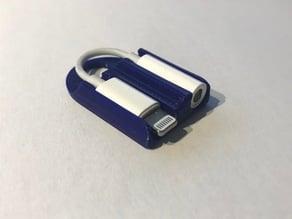Apple Lightning to Headphone Jack dongle holder keychain
